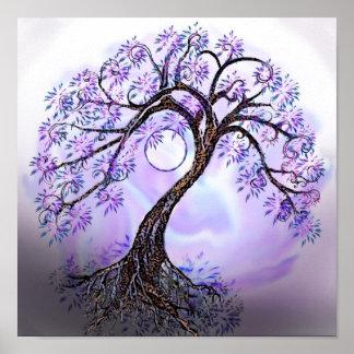 ポスターLavendarの生命の樹 ポスター