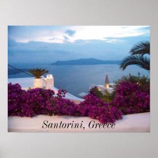 ポスターSantoriniギリシャ ポスター