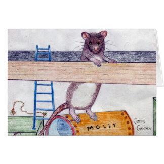 ポストのモーリーのメッセージカード3 ノートカード