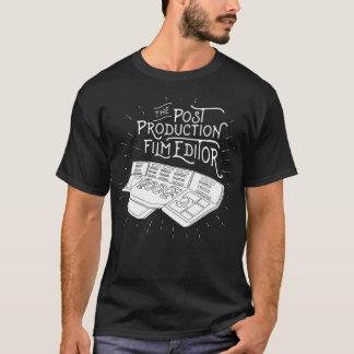 ポストの生産のフィルムの編集者 Tシャツ