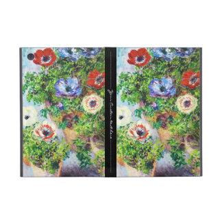 ポットのクロード・モネの花のペンキのアネモネ iPad MINI ケース
