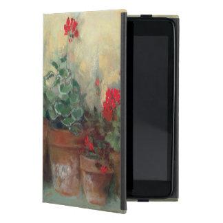 ポットのゼラニウム iPad MINI ケース
