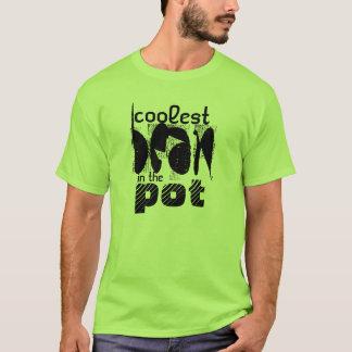 ポットのワイシャツの最もクールな豆 Tシャツ
