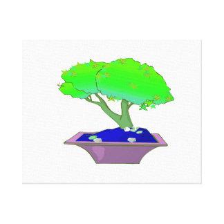 ポットの木graphic.pngの割れたトランクの盆栽 キャンバスプリント