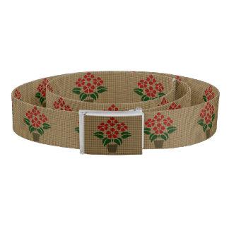 ポットの織り方のPoinsettaの模造のな花 ベルト
