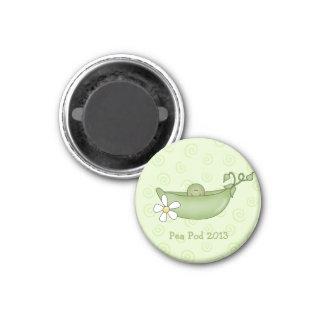 ポッドのベビーシャワーの磁石の名前入りなエンドウ豆 マグネット