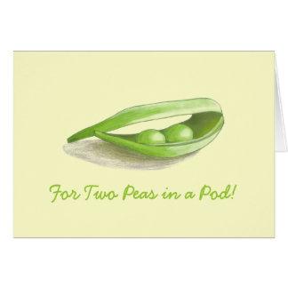 ポッドの結婚式の招待状の2個のエンドウ豆 カード