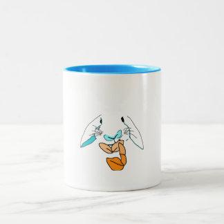 ポップアートのウサギのマグ ツートーンマグカップ