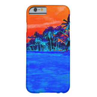 ポップアートのエキゾチックなビーチのヤシの木 BARELY THERE iPhone 6 ケース