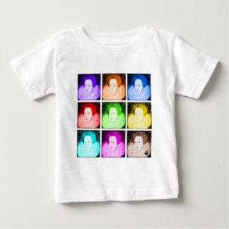 ポップアートのエリザベス女王一世 ベビーTシャツ