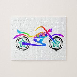 ポップアートのオートバイのパズル ジグソーパズル
