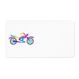 ポップアートのオートバイのリターン、住所または出荷Ave ラベル