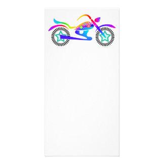 ポップアートのオートバイの写真カード カード