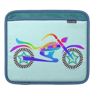 ポップアートのオートバイのiPadかラップトップスリーブ iPadスリーブ