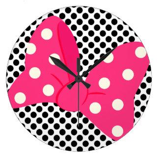 ポップアートのガーリーな時計 ラージ壁時計