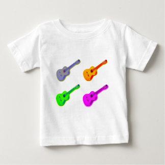 ポップアートのクラシカルでスペインのなギター ベビーTシャツ