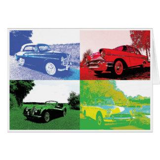 ポップアートのクラシックな車内広告 カード