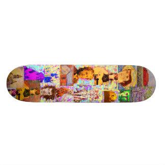 ポップアートのコラージュ スケートボード