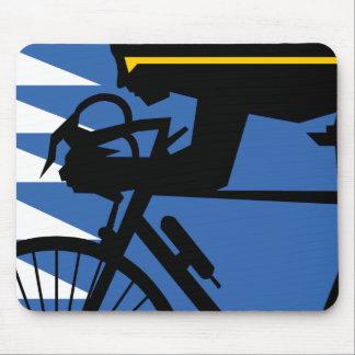 ポップアートのサイクリスト マウスパッド