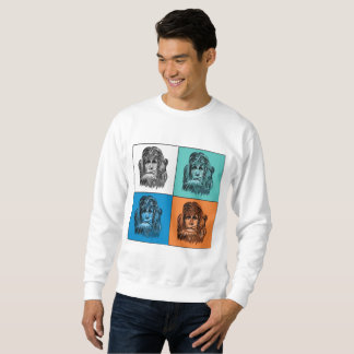 ポップアートのスタイルの雪男のポートレート スウェットシャツ