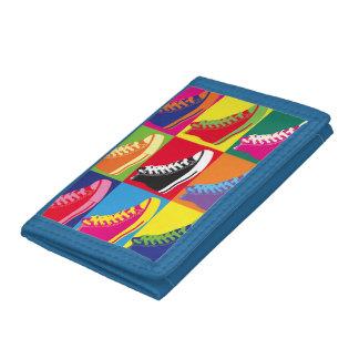 ポップアートのスニーカーの財布