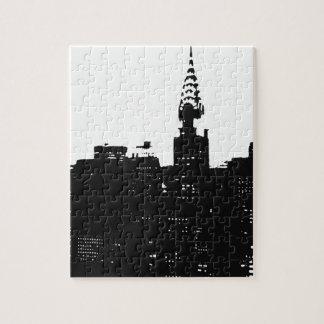 ポップアートのニューヨークのシルエット ジグソーパズル