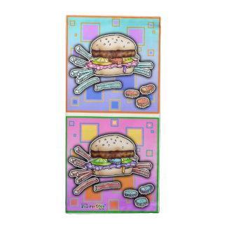 ポップアートのハンバーガー ナプキンクロス