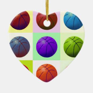ポップアートのバスケットボール セラミックオーナメント