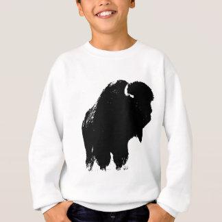 ポップアートのバッファローのバイソンのシルエット スウェットシャツ