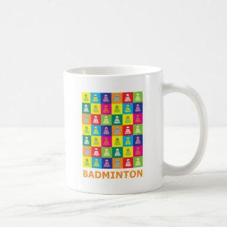 ポップアートのバドミントン コーヒーマグカップ