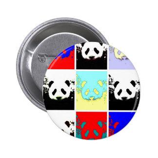 ポップアートのパンダ 5.7CM 丸型バッジ