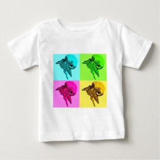 ポップアートのビオラのヤドカリのデザイン ベビーTシャツ