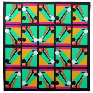 ポップアートのビリヤードはビリヤード台の手掛りのナプキンを抽出します ナプキンクロス