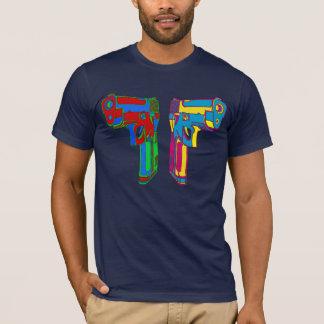 ポップアートのピストル Tシャツ
