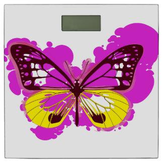 ポップアートのピンクの蝶体重計 体重計