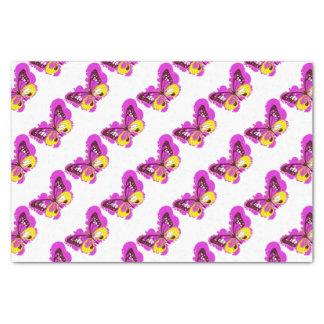 ポップアートのピンクの蝶 薄葉紙
