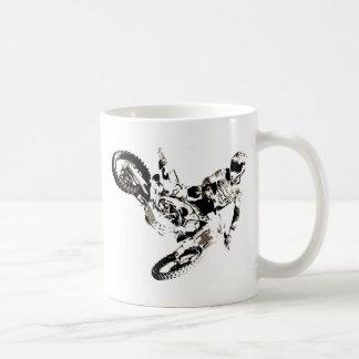 ポップアートのモトクロスのMotorcyleのスポーツ コーヒーマグカップ