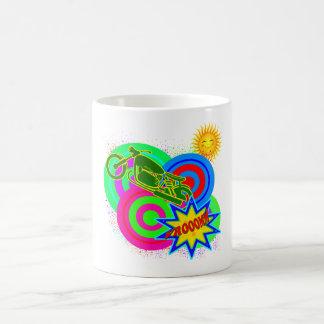 ポップアートのレーサー コーヒーマグカップ