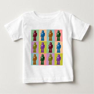 ポップアートのロボット ベビーTシャツ