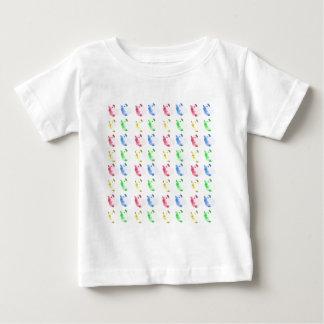 ポップアートの切り取られたモルモットパターン ベビーTシャツ