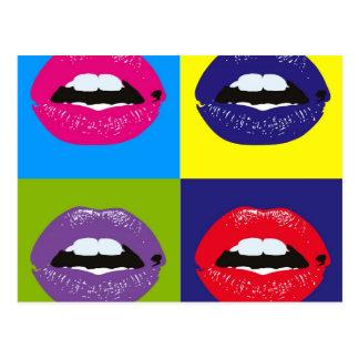 ポップアートの唇パターンDeisgn ポストカード