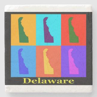 ポップアートの地図カラフルなデラウェア州 ストーンコースター