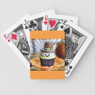 ポップアートの巡礼者のカップケーキ バイスクルトランプ