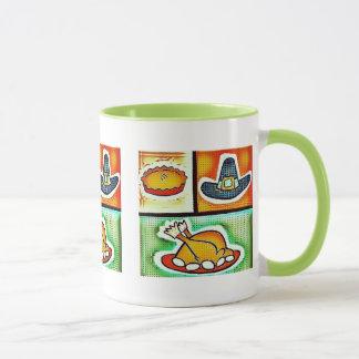 ポップアートの感謝祭の夕食 マグカップ