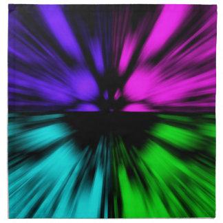ポップアートの抽象芸術4色。 ゆがみドライブ宇宙 ナプキンクロス