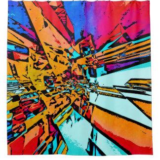 ポップアートの抽象芸術 シャワーカーテン