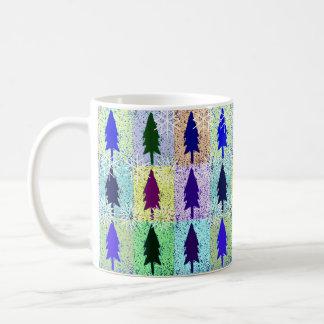 ポップアートの木の雪片 コーヒーマグカップ