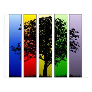 ポップアートの木 ポストカード