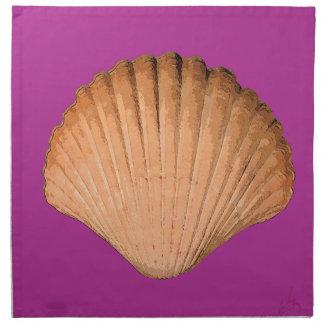ポップアートの海の貝 ナプキンクロス