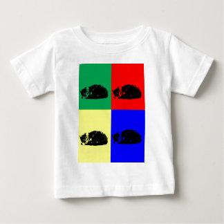 ポップアートの虎猫猫のワイシャツ ベビーTシャツ